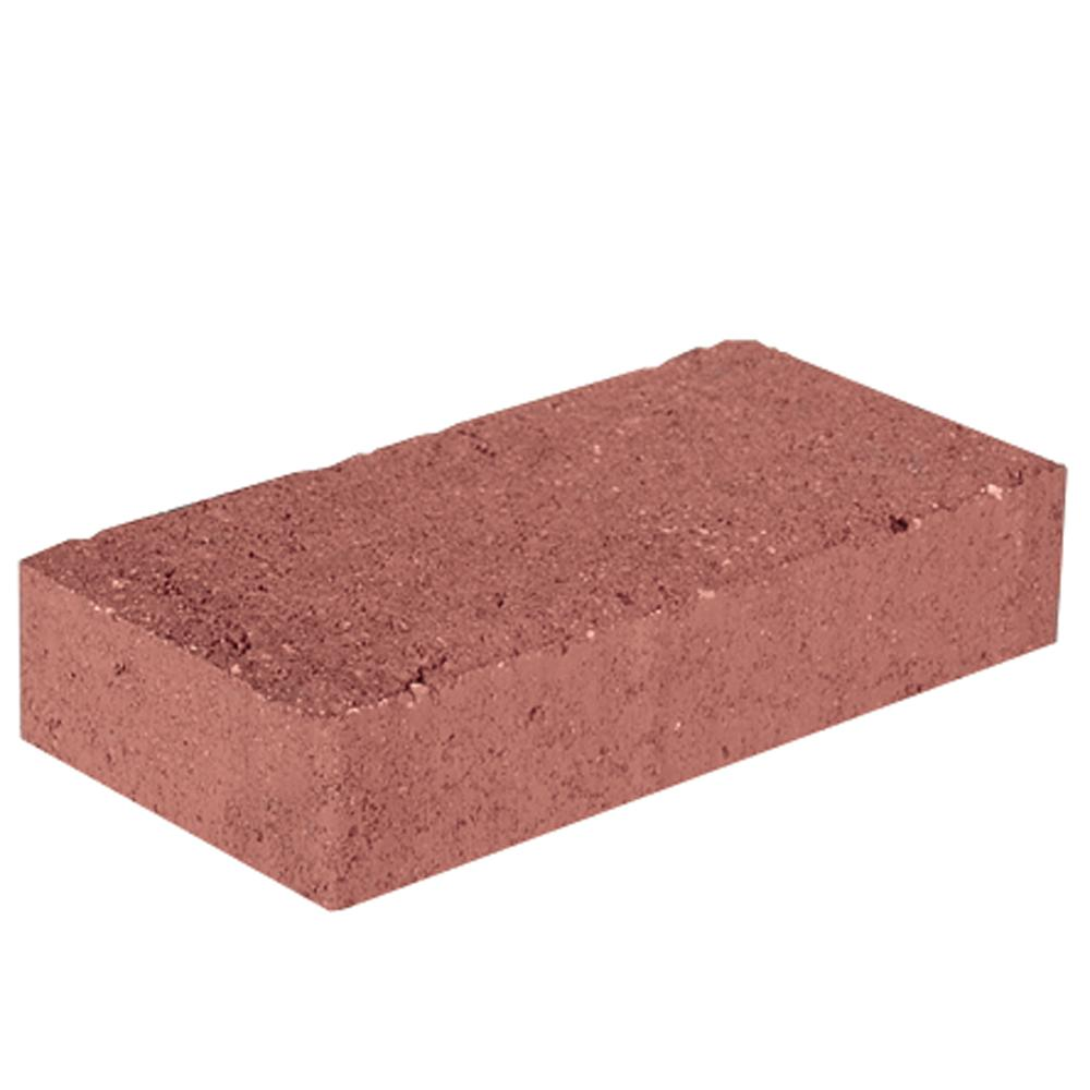 7.87 in. L x 3.94 in. W x 1.77 in. H Red Concrete Paver Holland (672-Pieces/145 sq. ft./Pallet)