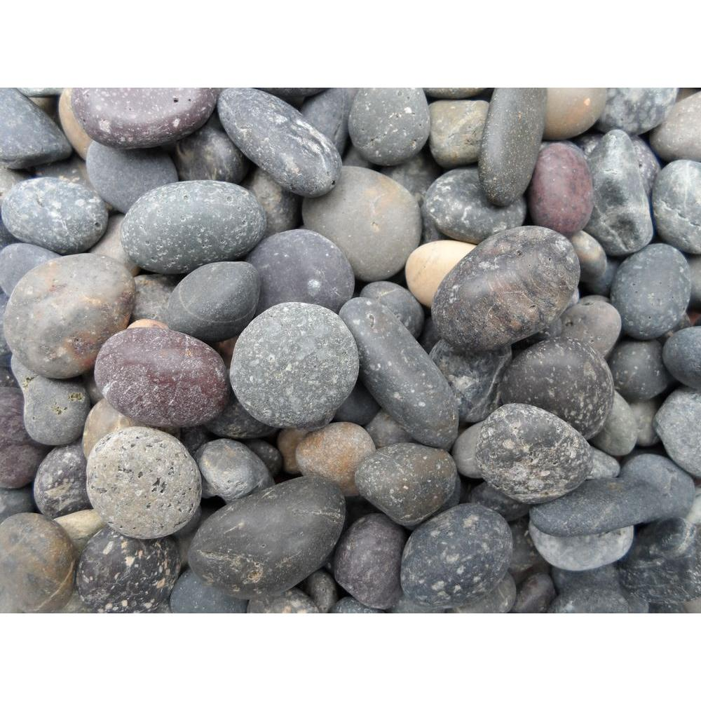 5/8 in. to 7/8 in. Mixed Mexican Beach Pebble (500 lb. Mini Sack)